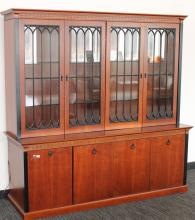 Wooden display cabinet.